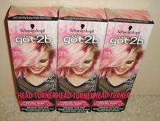 3 Schwarzkopf Got 2b Head Turner Temporary Hair Color Spray Pink Candy Cotton