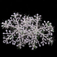 15Pcs 14.5cm White Snowflake Ornaments Christmas Holiday Party Home Decor Hot