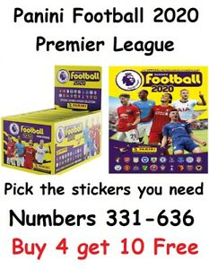 Panini Football 2020 *RESTOCKED Premier League Stickers Pick what u need 331-636