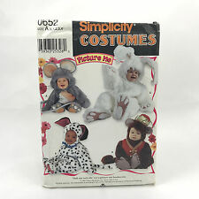 Simplicity 0652 Children Costume Bunny Monkey Mouse Dog Size .5 4 Uncut Pattern