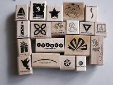 Lot 19 Stampin Up Small Rubber Stamps Ghost, Present Wedding Star Candle Candy