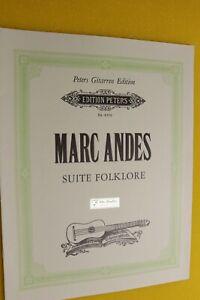 Marc Andes, Suite Folklore, Peters Gitarren Edition, Gitarre solo