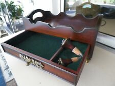 1998 BOMBAY 3 BOTTLE WINE RACK, TRAY & ACCESSORY STORAGE FOOTED CASE