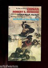 WORMS OF THE EARTH - Bran Mak Morn  Robert E Howard  , 1st US SB, Zebra  VG