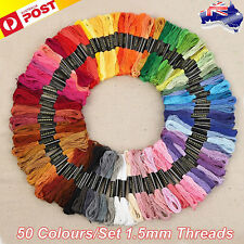 50 Color Egyptian Cross Stitch Cotton Sewing Skeins Embroidery Thread Floss OD