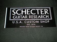 SCHECTER GUITAR RESEARCH Custom Shop STICKER DECAL 7x3