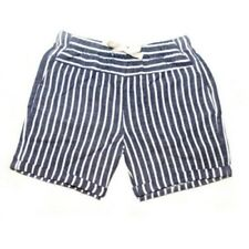 Faded Glory Girls Pull On Shorts Blue Sapphire Stripe Size MEDIUM 7-8 NEW