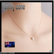Rose Love Gold Plated romantic Heart Pendant Necklace jewellery set chain