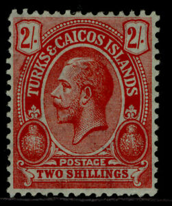 TURKS & CAICOS ISLANDS GV SG138, 2s red/blue-green, M MINT. Cat £29.