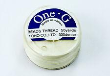 One-G Beading Nylon Thread Cream by Toho
