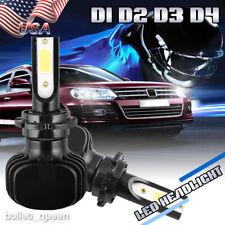 D1S D2S D3S D4S Fanless LED Headlight Kit Bulbs 2000W 300000LM 6000K HID Xenon R