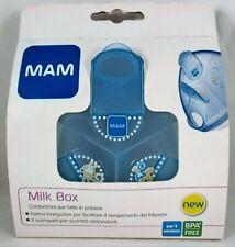 MAM LAIT boîte de rangement doseur x le en poudre 3 compartiments 40g bleu