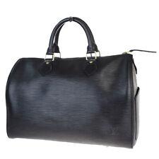 Auth LOUIS VUITTON Speedy 30 Hand Bag Epi Leather Black France M59022 34EZ566