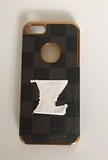 Fashion Gold Finish Case For iPhone 5/5S/5SE With Free LCD Screen Guard - Black