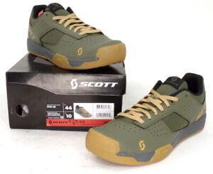Scott MTB AR Mountain Bike Flat Pedal Shoes Moss Green Men's Size 10 US / 44 EU