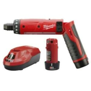 Milwaukee Electric Tools 2101-22 Milwaukee M4 1/4 In. Hex Screwdriver W/ [2]