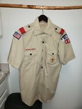 New listing Bsa Boy Scouts of America Official Uniform Shirt Men Large Short Sleeves Patches