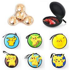 Pokemon Pikachu Fidget Hand Spinner Bag ADHD Autism Anime Finger Toy Box Case