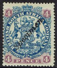 RHODESIA 1896 ARMS SPECIMEN 4D