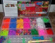 5.500 XXL Loom Bands Loops Gummibänder Armband Set Webrahmen Bandz Loop Looms