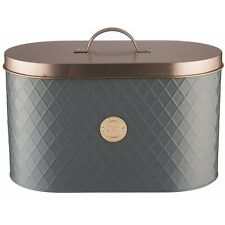 Typhoon Grey Copper Stainless Steel Bread Bin with Lid Kitchen Storage Container