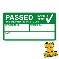 1000 PAT Test Pass stickers label passed, waterproof not cheap paper ones