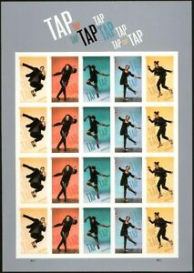 TAP DANCE Imperforate NO DIE CUT PANE OF 20 Forever Stamps MNH SCARCE ISSUE