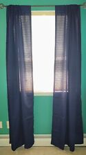 "Navy 85"" x 42"" Rod Pocket Curtains, Set of 2"