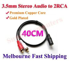 2RCA Male to 3.5mm Female Stereo Aux Audio Combine Splitter Adapter Cable Cord