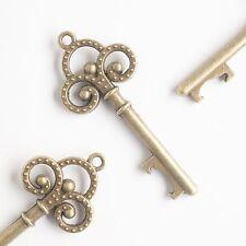 50 Antique Gold Key Bottle Openers Vintage Skeleton Trinity Keys