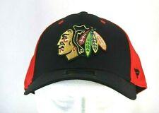 Chicago Blackhawks Black/Red  Baseball Cap Stretch Fit L/XL
