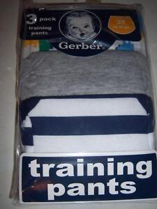 New Gerber 3pk Boy's Training Pants, Size 2T or 3T, Dinosaur