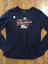 RARE RBK Patriots Phantom Super Bowl & 19-0 LS Women's T Shirt sz L