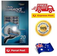 Gillette Mach 3 Turbo - 20 pack Bulk Quality FREE SHIPPING men women shaving