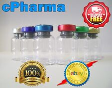 25 GLASS VIALS 10ML STERILE AND SEALED ALUMINIUM TOP LID VIAL BOTTLE/ FAT