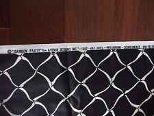 VTG 5TH AVENUE DESIGNS INC. 1982 GARDEN PARTY BLACK & WHITE MATERIAL OVER 12FT