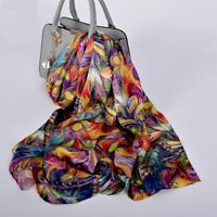 VARIETY Luxury 100% Pure Real Silk Scarf Women Long Shawl Wrap Ladies Fashion