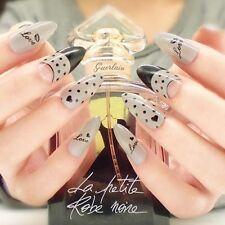 Nail Art 24ps Long False Nails Stiletto Full Cover Tips Mysterious Symbols Nails
