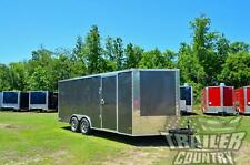 New 2022 85 X 18 V Nosed Enclosed Cargo Race Car Toy Hauler Trailer Loaded