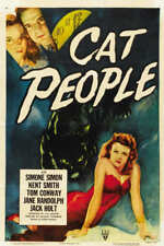 1942 CAT PEOPLE VINTAGE MOVIE POSTER PRINT 54x36 BIG