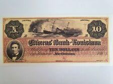 Banknote USA - New Orleans 10 Dollar 1860 Geldschein * Original Faksimile * RAR