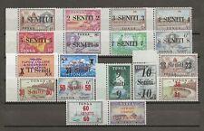 More details for tonga 1967 sg 185/201 & o21 mnh cat £13