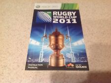 (NO GAME) Rugby World Cup 2011 Instruction Book Manual 360