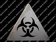 BIO HAZARD SIGN -- Metal Wall Art Sign Mancave Caution Zombie Apocalypse Dorm