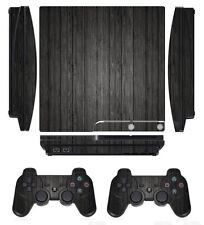 Wood 267 Skin Sticker Cover for PS3 PlayStation 3 Slim and 2 controller skins