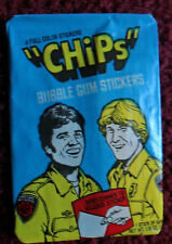 Unopened Pack 1979 CHIPS TV Show Cards ~ California Highway Patrol Erik Estrada