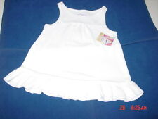 NWT Toddler Girls White Beach Coverup Sun Dress Op Summer Swim Sleeveless