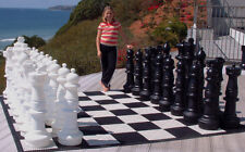 """MegaChess Giant Plastic Chess Set with a 37"""" King"""