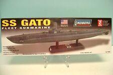 "LINDBERG 1:240 SCALE "" SS GATO "" FLEET SUBMARINE NO. 70885 PLASTIC MODEL KIT."