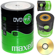 GENUINE MAXELL DVD+R 100 PACK BLANK DISCS RECORDABLE DVD 16x 4.7GB 120 MINS PC